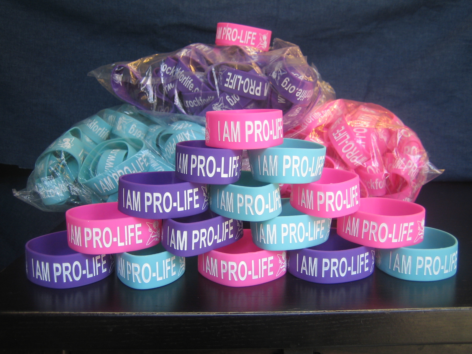 Colors That Go Well With Pink i am pro-life wristbands now available in new colors! | rock for life